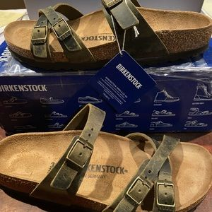Birkenstock Franca jade leather 8 narrow new